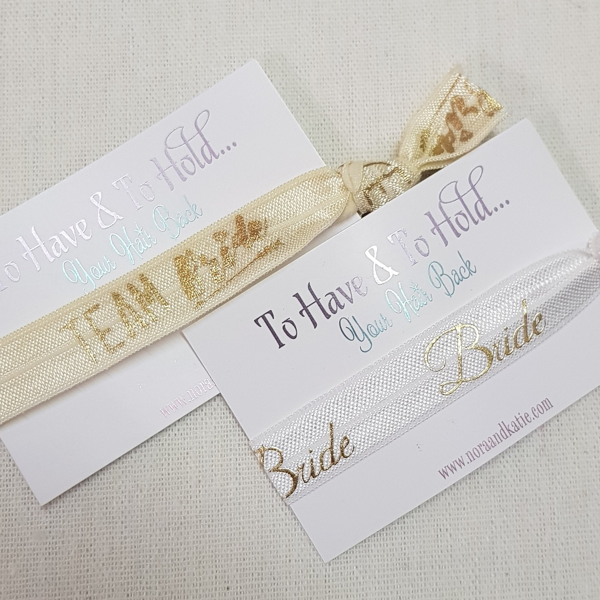 Gold To have and to hold your hair back hen party bag fillers – Nora   Katie 8a093314830