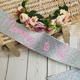 Baby shower sash and floral crown