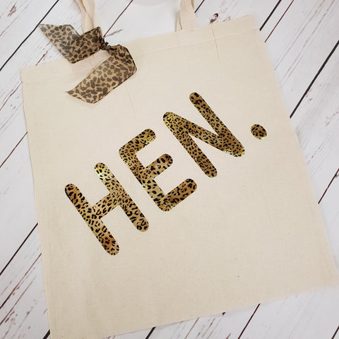Leopard hen. Tote Canvas Bag