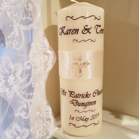 Wedding Candle - Cross