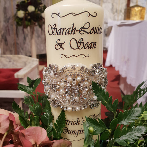 Wedding Candle - Elegant Pearls