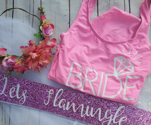 Let's flamingle hen party set