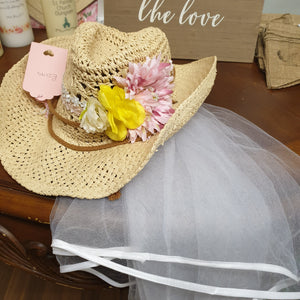Cowboy Hat with flowers