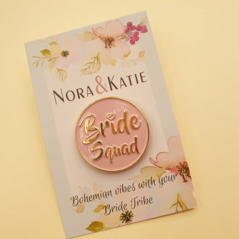Bride Squad Lapel Pin - Boho Hen Party