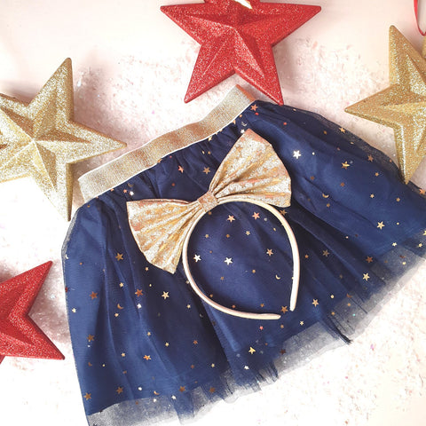 Little Stars tutu and hair band Christmas Party set