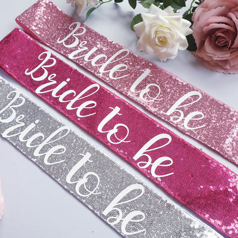 Bride to be Sequin Sash - Hen Party