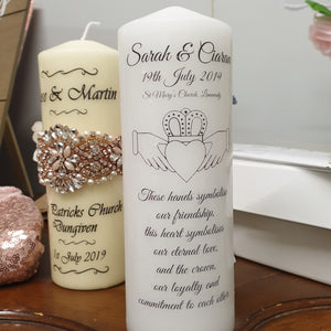 Hands of love and friendship Wedding Candle