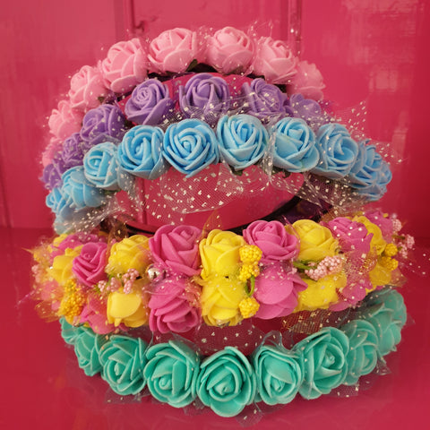 Bright flower hairband