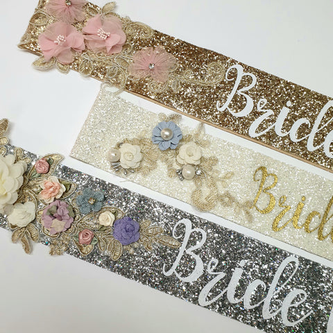 Embellished Bride to be sash