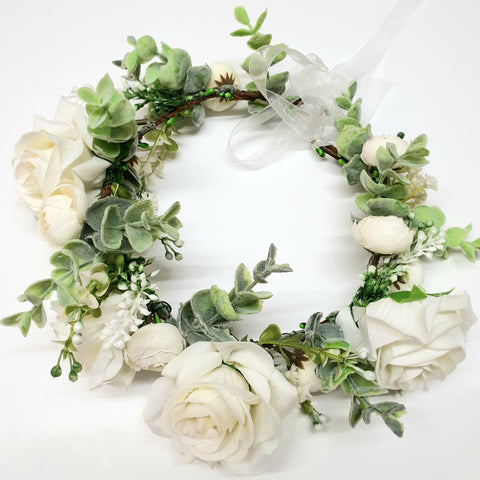 Large Rose's Greenery Floral crown