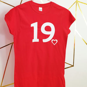 Red Birthday T-Shirt