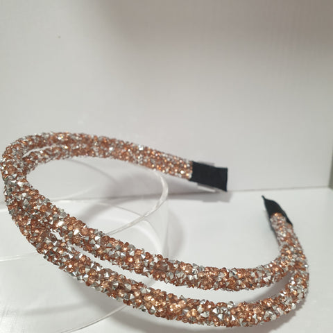 Rose gold double Sparkle Hairband
