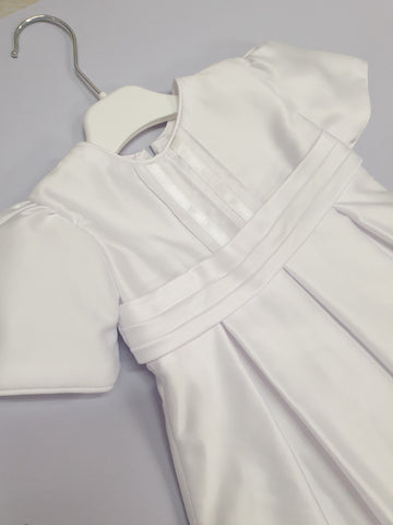 Christening gown- Gender Neutral - Niamh Gown - White Satin