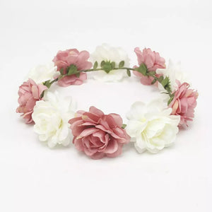 Blush n cream flower crown