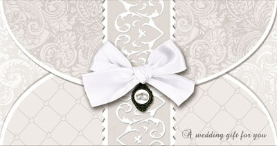 Hand Crafted Wedding Day/Money Wallet Card