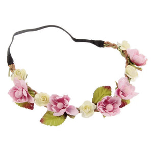 Pink flower headband  - hen party accessory