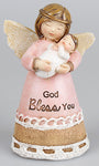 God Bless You  Angel/Baby Girl Ornament