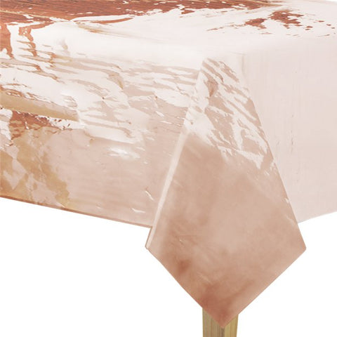 Metallic Rose Gold Foil Tablecover