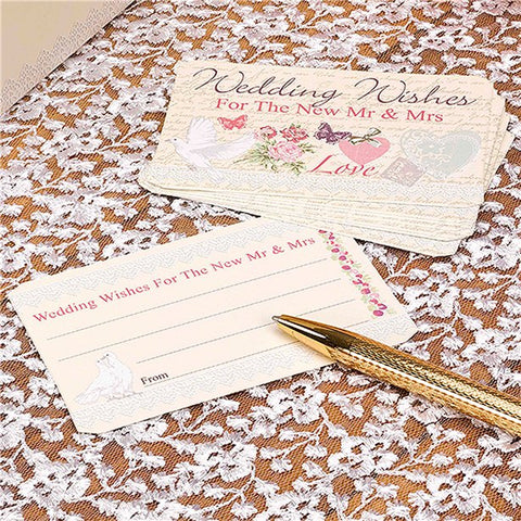 With Love Wedding Wished Cards
