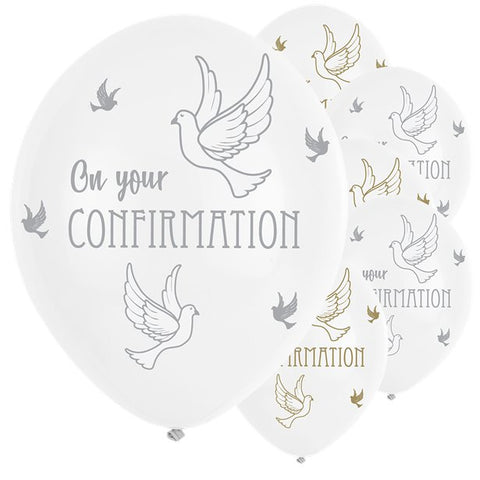 "Confirmation Dove Balloons - 11"" Latex"