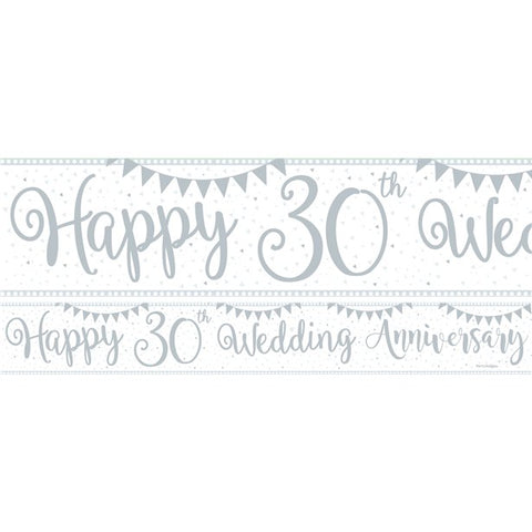 30th Wedding Anniversary Paper Banners 3 designs 1m each