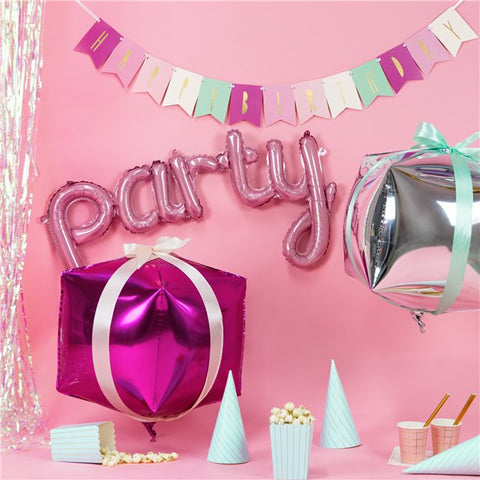"Pink ""Party"" Phrase Balloon"