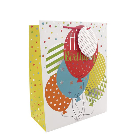 Birthday Balloons Gift Bag - Medium