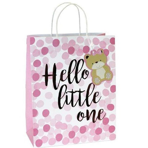 Pink Spot Hello Little One Medium Gift Bag - 25cm