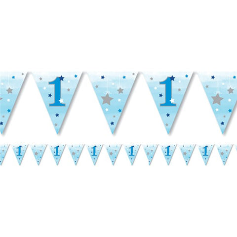 One little star boy paper bunting