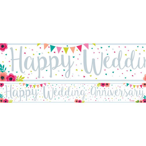 Wedding Anniversary Paper Banners 3 designs 1m each