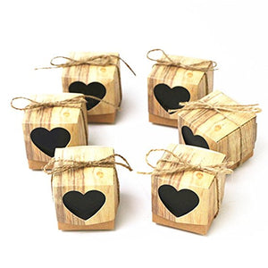 Rustic Heart Wedding Favour Boxes
