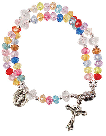 Bracelet/Complete Acrylic Rosary/Multi/Magnetic