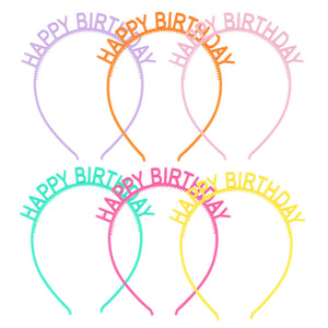 Kids Colourful Happy Birthday Hairband