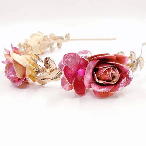 Cute Metallic flower hair band