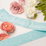 Blue Birthday Queen Sash - Adult Birthday Party