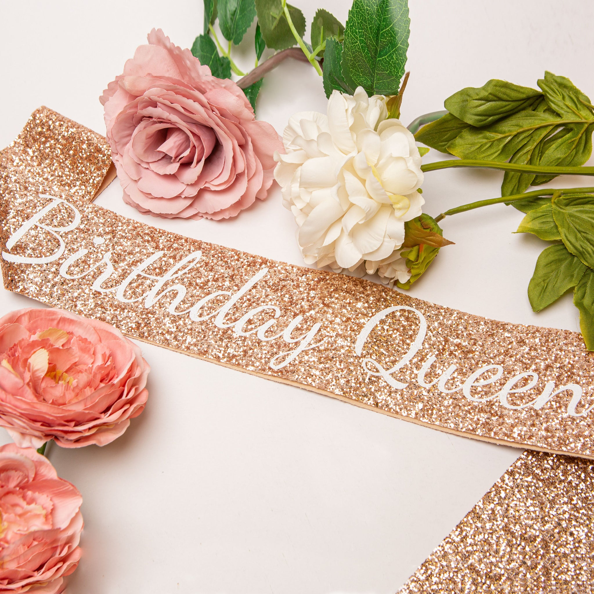 Rose Gold Birthday Queen Sash - Adult Birthday Party