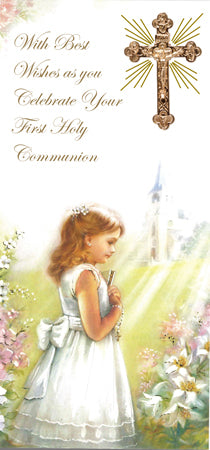 Communion Boxed Card/Girl