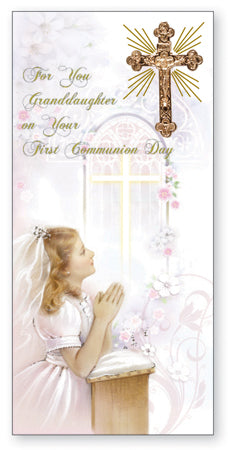 Communion Boxed Card/Granddaughter