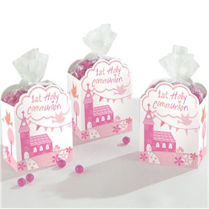 First Holy Communion Pink Favour Gift Boxes