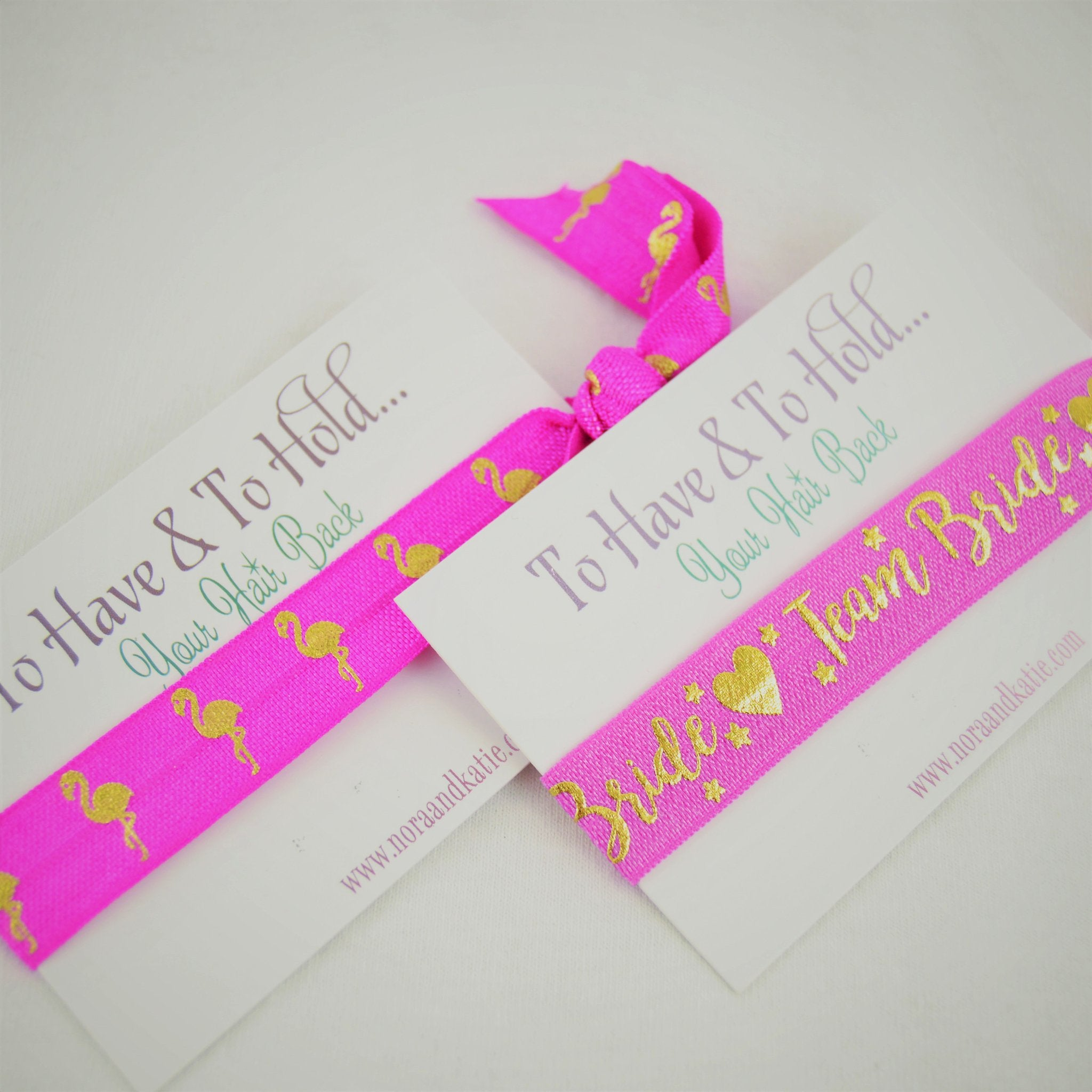 Pink To have and to hold your hair back hen party bag fillers