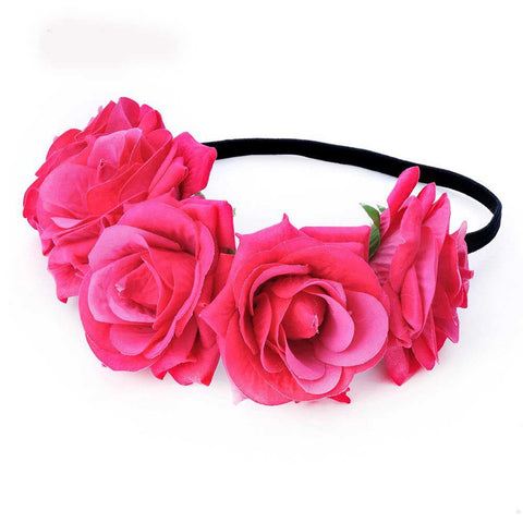 Hot pink flower head band