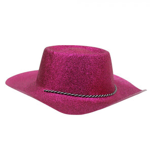 Pink Glitter Cowgirl Hat