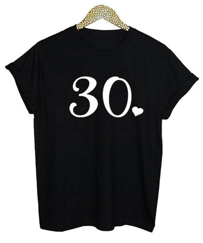 30th Black Birthday T-Shirt