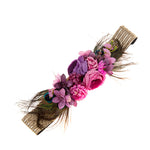 Feather & Floral Bump Sash - Purple & Pink