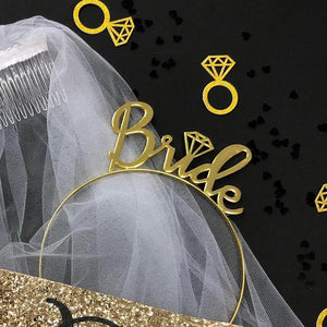 Bride hairband & Veil - Little Black Dress Hen Party