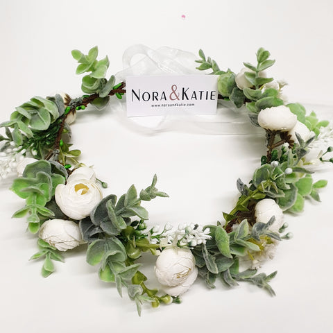 Greenery Floral crown - Flower Girl