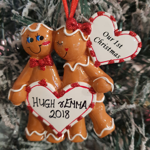 Personalised Our 1st Christmas - Christmas Tree Decoration