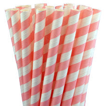 Light Pink Stripe Straws