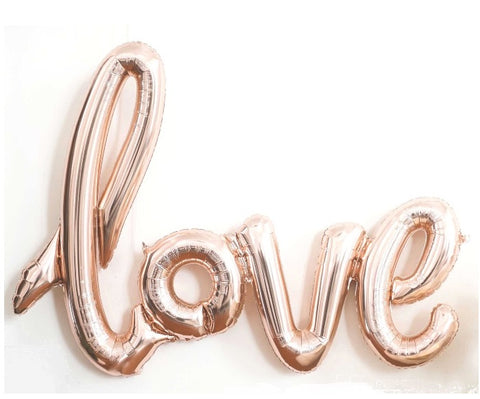 Foil Phrase Love Balloon - Rose Gold Colour