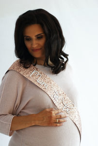 Mum to be - ROSE GOLD Glitter Sash